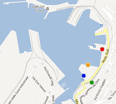 Port Map Ancona, Venice, Patras, Igoumenitsa, Corfu - Grimaldi Euromed Ferries