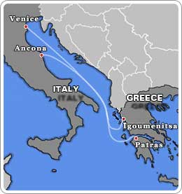 Italy - Greece Ferries