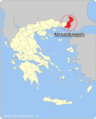 Map of Alexandroupoli - Greece