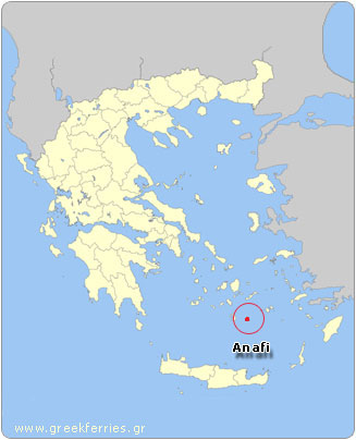 Map of Anafi - Greece