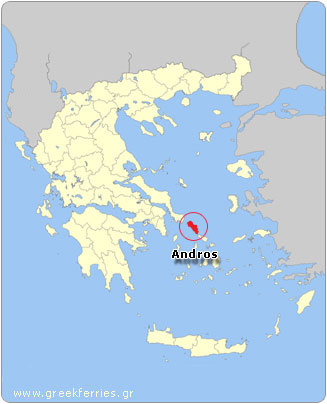 Map of Andros - Greece