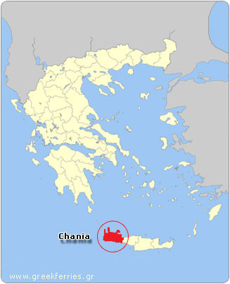 Map of Chania - Greece