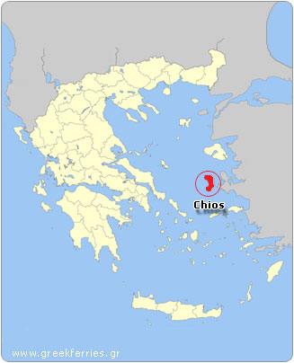 Map of Chios - Greece