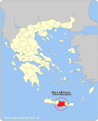 Map of Heraklion - Greece