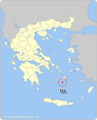 Map of Ios - Greece