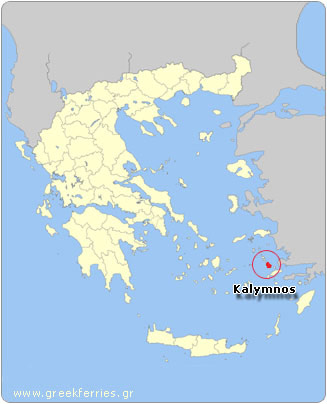 Map of Kalymnos - Greece