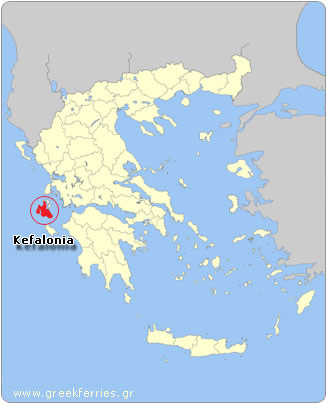 Map of Kefalonia - Greece