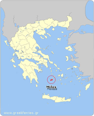 Map of Milos - Greece