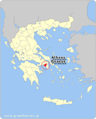 Map of Piraeus (Athens) - Greece