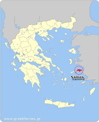 Map of Samos - Greece