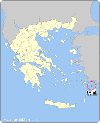 Map of Symi - Greece