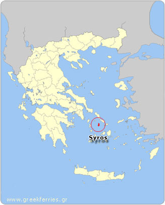 Map of Syros - Greece