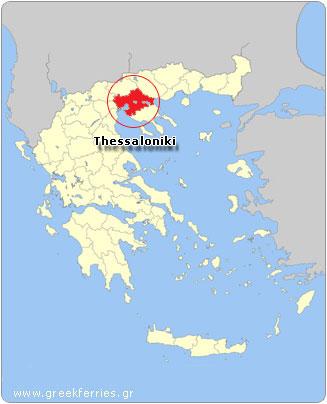 mapa grecia salonica Ferries a Grecia   Tiempo en Grecia, Tiempo de Tesalónica mapa grecia salonica