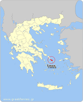 Map of Tinos - Greece