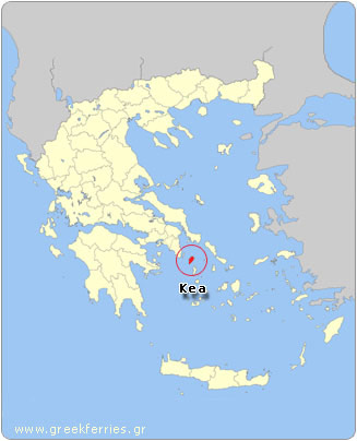 Map of Kea - Greece