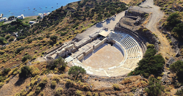 Ancient Theater in Milos Cyclades