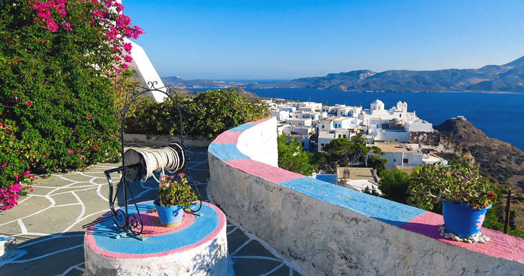 Plaka in Milos Cyclades