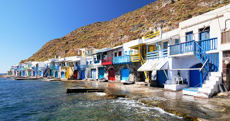 Fishing Village Klima in Milos Cyclades