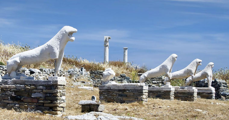 Archaeological Site in Mykonos Cyclades