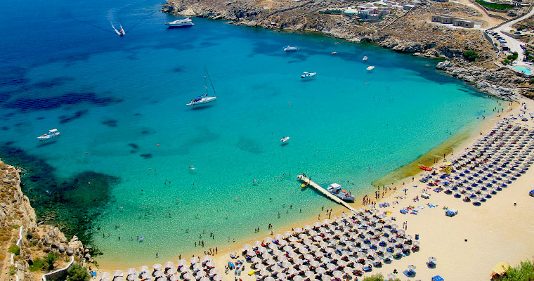 Super Paradise in Mykonos Cyclades