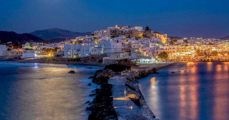Chora in Naxos op Cycladen