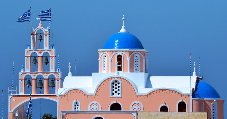 Churches in Santorini Cyclades