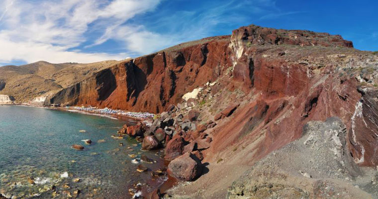 Red Beach in Santorini Cyclades